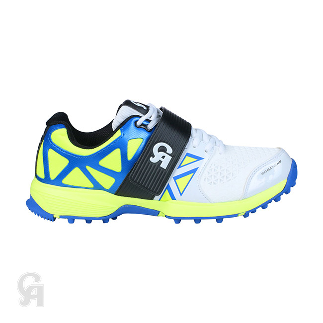 42a9d6efbf9f CA Big Bang KP Cricket Shoes (Yellow   Blue)