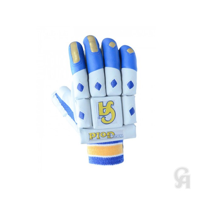 CA White Gold Batting Gloves