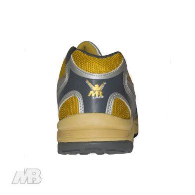 MB Malik Cricket Shoes (Golden) Back View