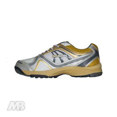 MB Malik Cricket Shoes (Golden) Side View
