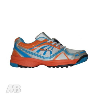 MB Malik Cricket Shoes (Orange) Side View