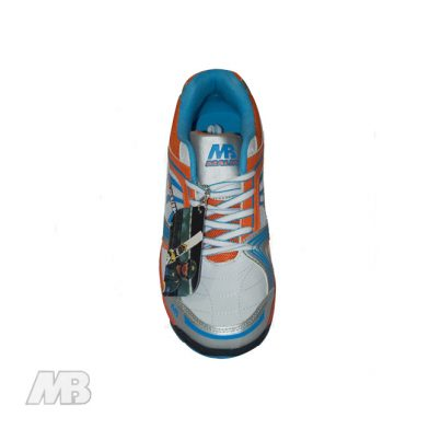MB Malik Cricket Shoes (Orange) Top View