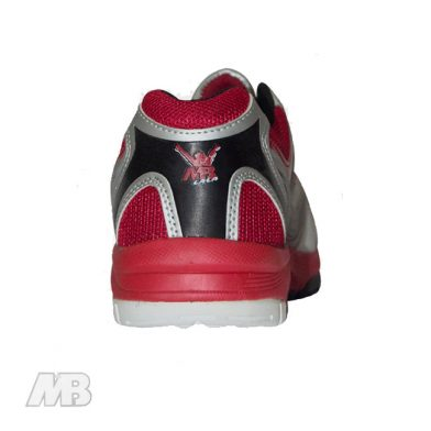 MB Malik Cricket Shoes (Red) Back View