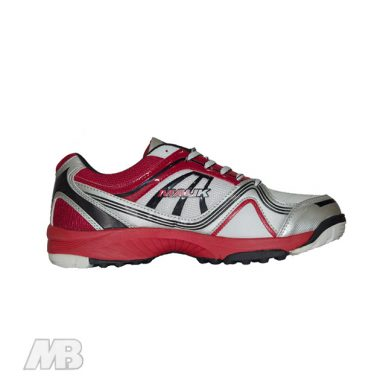 MB Malik Cricket Shoes (Red) Side View