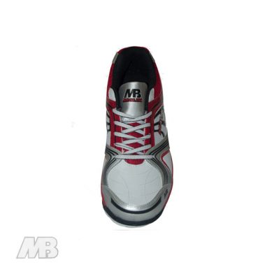 MB Malik Cricket Shoes (Red) Top View